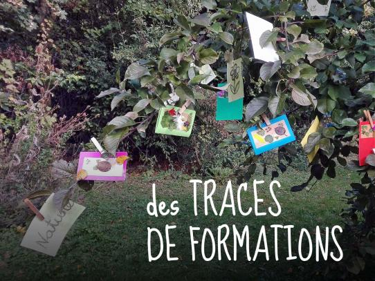 des traces de formations